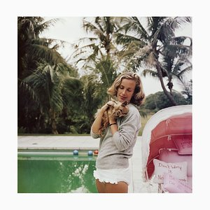 Alice Topping Oversize C Print Framed in White by Slim Aarons