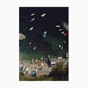 Amalfi Coast Oversize C Print Framed in White by Slim Aarons