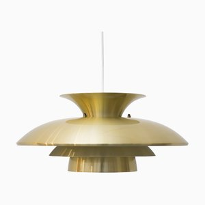 Golden Ceiling Lamp from Top Lamper, 1980s