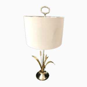 Silver-Plated Table Lamp by Maison Charles, 1960s