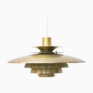 Golden Verona Ceiling Lamp from Jeka Metaltryk, 1980s