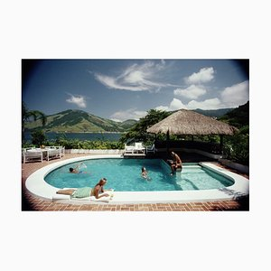 Angra Dos Reis Oversize C Print Framed in White by Slim Aarons