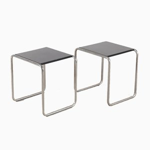 Bauhaus Side Tables by Marcel Breuer for Tecta, 1930s, Set of 2