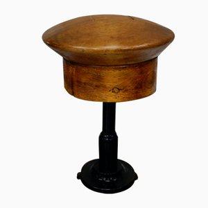 Antique Oak Sailor's Hat Mould On Stand