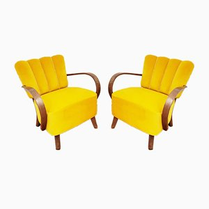 Mid-Century Armchairs by Jindřich Halabala for UP Závody, Set of 2