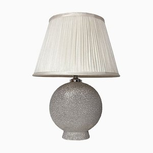 Vintage Glazed Table Lamp in the Style of Jean Besnard