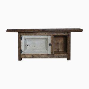 Vintage Workshop Table with Storage