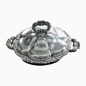 Silber Schale mit Deckel von Odiot
