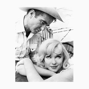 Monroe in the Misfits Archival Pigment Print Framed in White by Everett Collection
