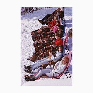 Apres Ski Oversize C Print Framed in Black by Slim Aarons