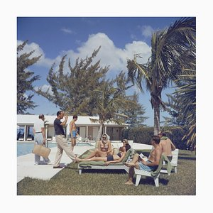 At Lyford Cay Oversize C Print Framed in White by Slim Aarons