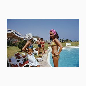 At the Von Pantzs Oversize C Print Framed in White by Slim Aarons