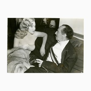 Marilyn Monroe & Groucho Marx Archival Pigment Print Framed in White by Everett Collection