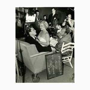 Marilyn Monroe on Set Screen Test Archival Pigment Print Framed in Black by Everett Collection
