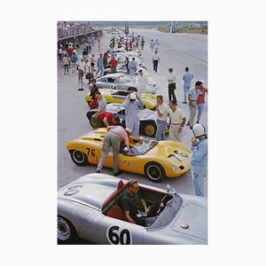 Bahamas Speed Week Oversize C Print Framed in Black by Slim Aarons