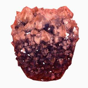 Kristallglas Vase von Isaac Monté