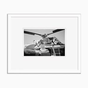 Monroe on Time Archival Pigment Print Framed in White by Bettmann