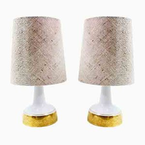 Mid-Century Ceramic Table Lamps, Set of 2