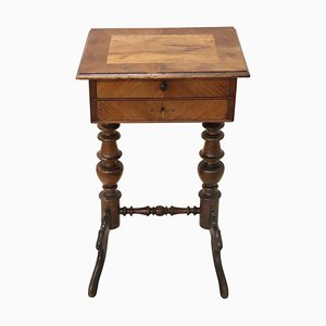 Antique Walnut Side Table, 1850s