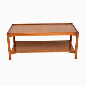 Large Georgian Style Yew Wood Coffee Table, 1950s