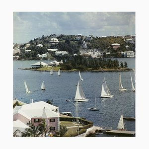 Bermuda View Oversize C Print Framed in White by Slim Aarons