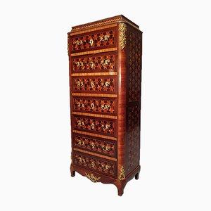 Napoleon III Marquetry Cubes & Rosewood Secretaire