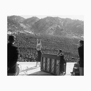 Marilyn Monroe in Korea Archival Pigment Print Framed in White by Bettmann