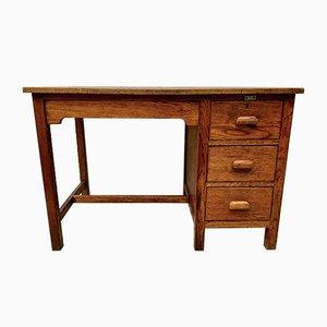 Vintage Wooden Desk with Oak Drawers