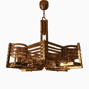 24kt Gold Chandelier by Gaetano Sciolari for Gaetano Sciolari , 1980s