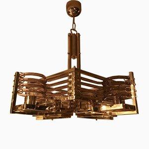 24kt Gold Kronleuchter von Gaetano Sciolari für Gaetano Sciolari, 1980er