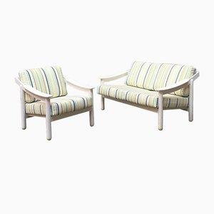 Italienisches Sofa und Modell Loden Sessel von Vico Magistretti für Cassina, 1960er