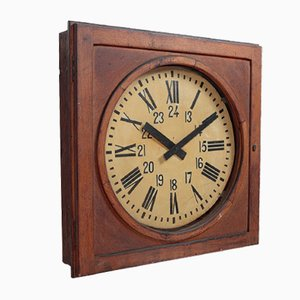Vintage French Station Clock