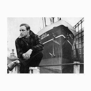 Brando on the Waterfront Archival Pigmentdruck in Weiß von Alamy Archiv gerahmt