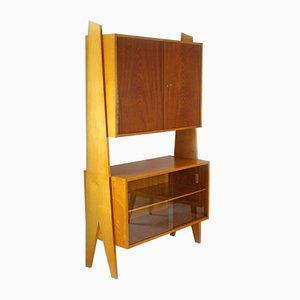 Vintage Wall Unit Bookcase, 1960s