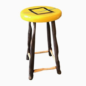 Yellow Stool by Markus Friedrich Staab