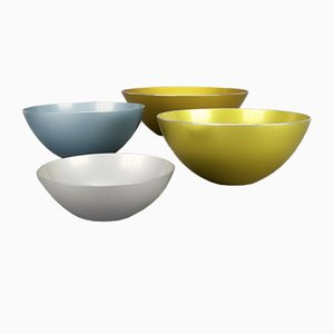 Anodized Aluminum Bowls by Bjørn Engø for Emalox, 1950s, Set of 4