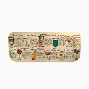 Large Cocktail Plate by Piero Fornasetti