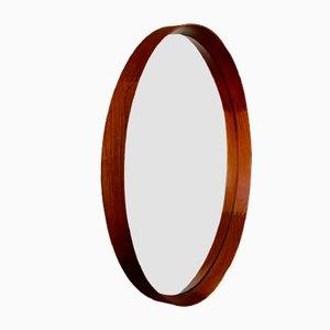 Scandinavian Round Teak Mirror by Östen Kristiansson, 1960s