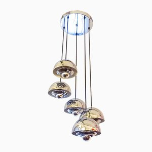 Vintage Sputnik Ceiling Lamp with 5 Shades