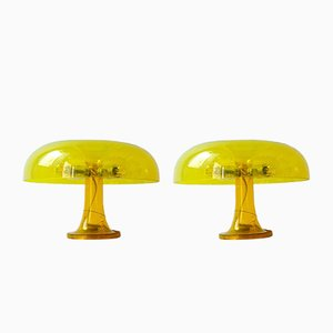 Nessino Table Lamps by Giancarlo Mattioli for Artemide, 1967, Set of 2