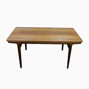 Large Danish Teak Dining Table with Pull-Out Tops by Johannes Andersen for Uldum Møbelfabrik, 1960s