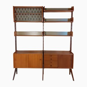 Ergo Teak Wall Unit with 2 Sections by John Texmon for Blindheim Møbelfabrikk, 1960s
