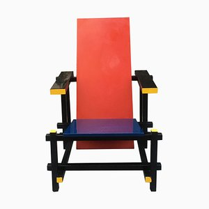 Red Blue Chair by Gerrit Rietveld, 1966