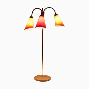 Mid-Century Colored Floor Lamp, 1950s