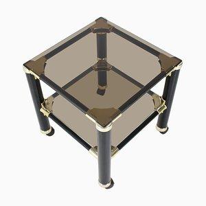 Kleiner Italienischer Mid-Century Glastisch von Vet For, 1980er