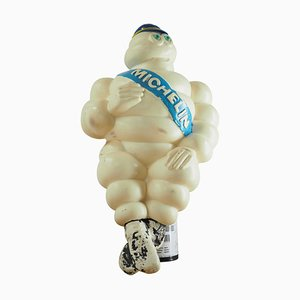 Vintage Plastic Michelin Man Sign, 1950s
