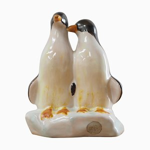 Mid-Century Sculpture of Penguins from Jihokera, Czechoslovakia, 1940s