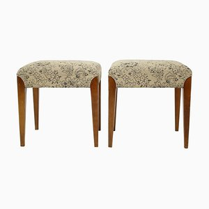 Footstools by Jindrich Halabala, 1950s, Set of 2