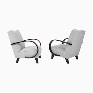 Armchairs by Jindrich Halabala, 1960s, Set of 2
