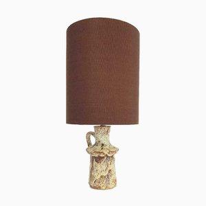 Lampe de Table Vintage en Céramique Fat Lava, Danemark